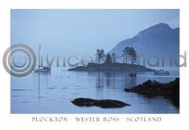 Plockton In Scotch Mist Postcard (HA6)