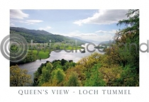 Loch Tummel, Queens View Postcard (H A6 LY)