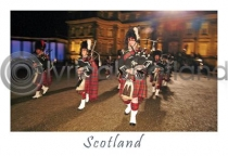 Scottish Pipers - Scotland Postcard (HA6)