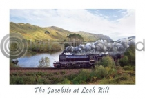 Jacobite At Loch Eilt Postcard (HA6)