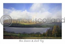 Ben Lawers & Loch Tay Rainbow Postcard (HA6)