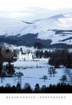 Blair Castle, Winter Postcard (VA6)