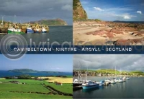 Campbeltown Composite Postcard (H A6 LY)
