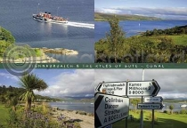 Tighnabruaich Composite Postcard (H A6 LY)