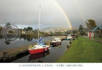 Caledonian Canal, Fort Augustus Postcard (HA6)