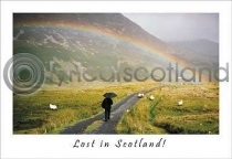 Lost In Scotland Postcard (H A6 LY)