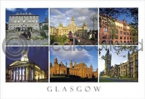Glasgow Composite 2 Great Buildings Postcard (H A6 LY)