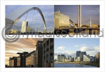 Glasgow Composite 3 Modern Postcard (H A6 LY)