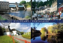 Pitlochry Composite Postcard (H A6 LY)