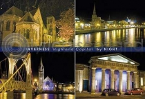Inverness By Night Composite Postcard (HA6)