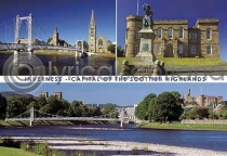 Inverness Highland Capital - Day Composite Postcard (HA6)