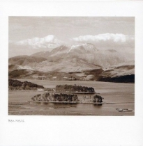 Ben Nevis Sepia Greetings Card