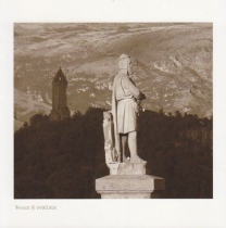 Bruce & Wallace Monument Sepia Greetings Card