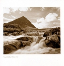 Buachaille Etive Mor Sepia Greetings Card