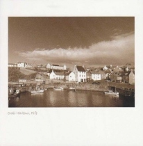 Crail Harbour, Fife Sepia Greetings Card