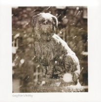 Greyfriars Bobby, Edinburgh Sepia Greetings Card