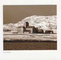 Iona Abbey, Snow Sepia Greetings Card