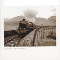 Jacobite Steam Train On Viaduct Sepia Greetings Card