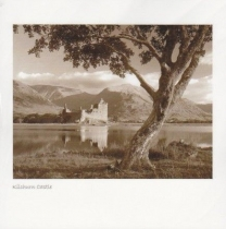 Kilchurn Tree, Loch Awe Sepia Greetings Card