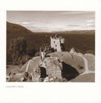 Urquhart Castle, Loch Ness Sepia Greetings Card