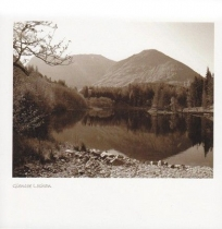 Glencoe Lochan Sepia Greetings Card