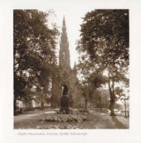 Scott Monument Sepia Greetings Card