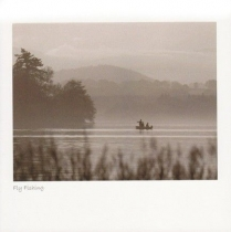 Fly Fishing Sepia Greetings Card