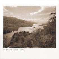 Queen's View, Loch Tummel Sepia Greetings Card