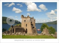 Urquhart Castle & Loch Ness Close Up Postcard (HA6)