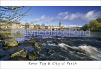 River Tay & City of Perth Postcard (HA6)