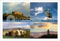 Historic Stirling Composite Postcard (HA6)