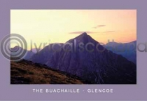Sunset, Buachaille Etive Mor Postcard (HA6C)