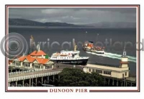 Dunoon Pier Postcard (H A6 LY)