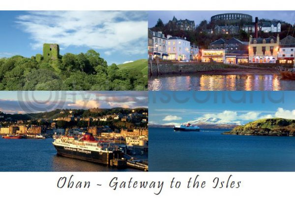 Oban Gateway to the Isles Postcard (HA6)