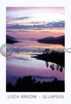 Loch Broom Sunset - Ullapool Postcard (VA6)