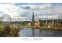 Perth City from Bridge Postcard (HA6)