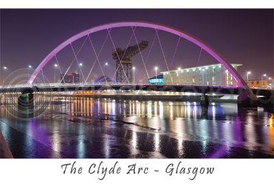Clyde Arc - River Clyde, Glasgow Postcard (HA6)