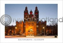 Kelvingrove Snow - Glasgow Postcard (HA6)