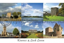 Kinross, Loch Leven Composite Postcard (H A6 LY)