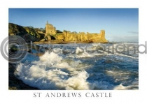 St Andrews Castle & Surf Postcard (HA6)