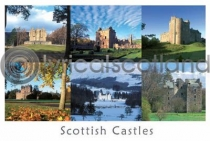 Scottish Castles Composite 2 Postcard (HA6)