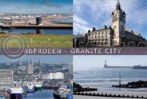 Aberdeen Composite 1 - Granite City Postcard (H A6 LY)
