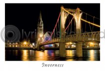 Inverness Bridge by Night Postcard (H A6 LY)
