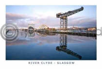 River Clyde - Glasgow Postcard (H A6 LY)