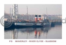 PS Waverley River Clyde Glasgow Postcard (H A6 LY)