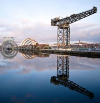 Clyde, Armadillo, Pacific Quay Glasgow Colour Photo Card