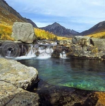 Rock Pool, Glen Rosa, Arran Colour Photo Greetings Card (LY)