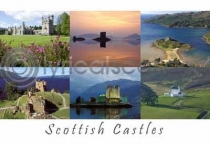 Scottish Castles Composite 3 Postcard (HA6)