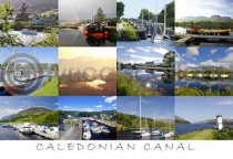 Caledonian Canal Composite Postcard (HA6)