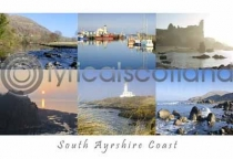 South Ayrshire Coast Composite Postcard (HA6)